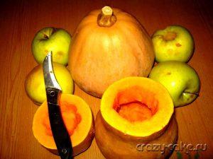 Начинка для пирогов из тыквы и яблок.