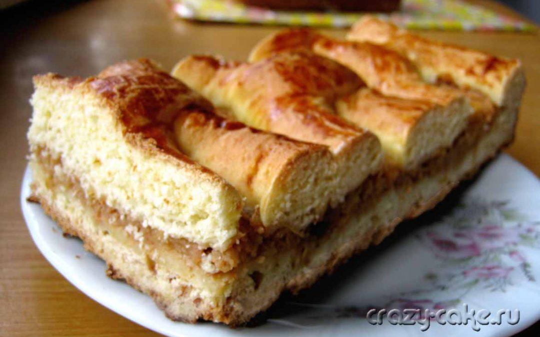 Быстрый и вкусный яблочный пирог на кефире