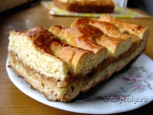 Быстрый и вкусный яблочный пирог на кефире.