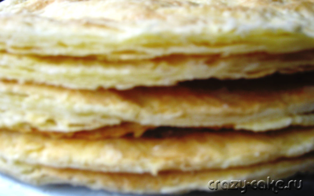 Слоеное тесто для Наполеона (от бабушки)