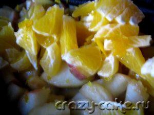 Начинка из яблок и апельсинов для пирогов.